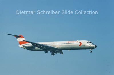1980-02 OE-LDK Douglas DC9-51 (c/n 47651) Austrian Airlines
