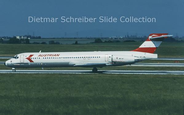 1996-06 OE-LML MDD MD87 (c/n 49412) Austrian Airlines