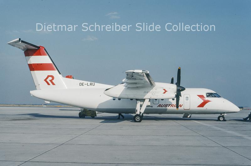 1993-07 OE-LRU Bombardier Dash 8-103A (c/n 317) Rheintalflug