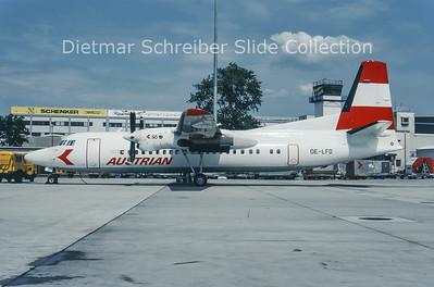 OE-LFD Fokker F50 (c/n 20144) Austrian Air Service; Austrian Airlines