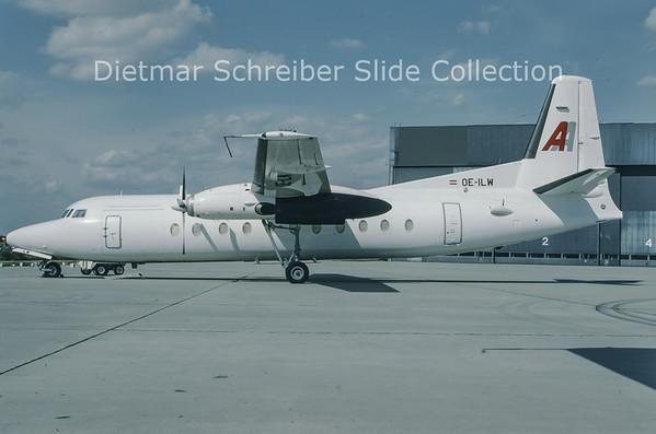 1993-09 OE-ILW Fokker F27-500 (c/n 10681) Alpenair