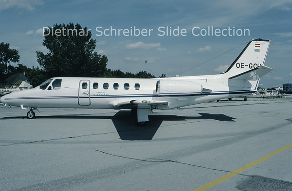 1993-09 OE-GCH Cessna 550 Citation 2 (c/n 550-0290) Viennair Polsterer Jets