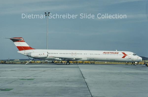 1993-08 OE-LDV MDD MD80 Austrian Airlines