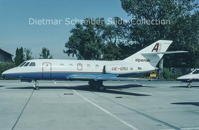 1993-11 OE-GRU Dassault Falcon 20 Alpenair