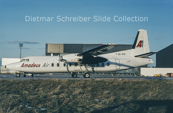 1994-01 OE-IPN Fokker F27-500 (c/n 10686) Amadeus Air