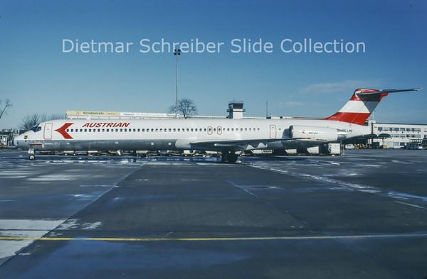 1994-01 OE-LME MDD MD83 (c/n 53377) Austrian Airlines