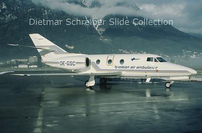 OE-GSC Dassault Falcon 10 (c/n 122) Tyrolean Jet Service