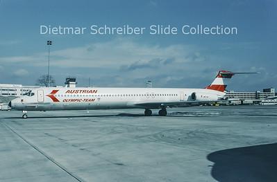 1994-03 OE-LMB MDD MD81 (c/n 49279) Austrian Airlines