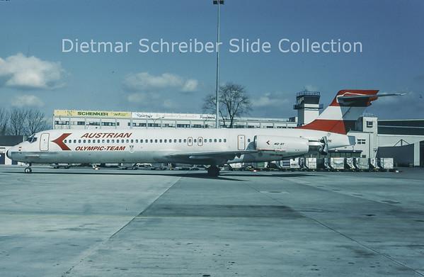 1994-03 OE-LMM MDD MD87 (c/n 49413) Austrian Airlines