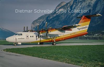 OE-LLU DHC Dash 7-100 (c/n 113) Tyrolean Airways