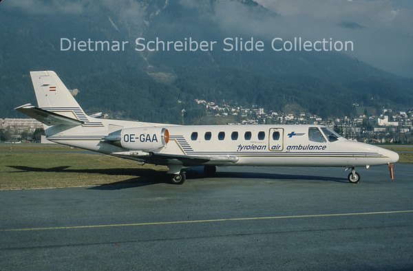 OE-GAA Cessna 560 Citation 5 Tyrolean Jet Service