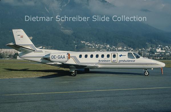 OE-GAA Cessna 560 Citation 5 (c/n 560-0111) Tyrolean Jet Service