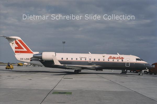 1994-07 OE-LRB Bombardier Regionaljet 100LR (c/n 7033) Lauda Air