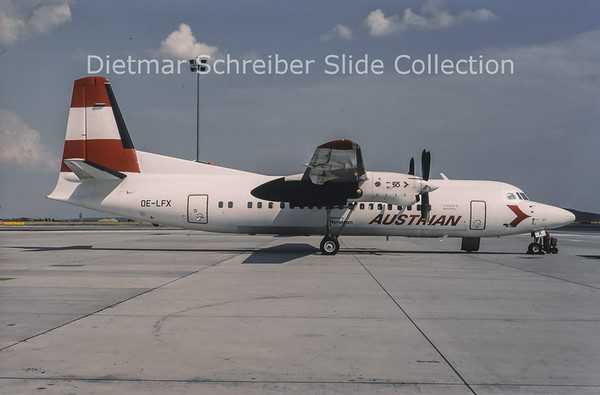 1994-07 OE-LFX Fokker 50 Tyrolean Airways