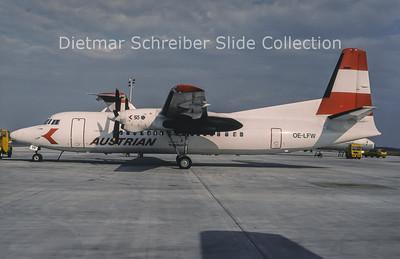 1994-07 OE-LFW Fokker 50 Tyrolean Airways