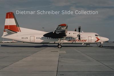 1994-08 OE-LFB Fokker 50 Tyrolean Airways