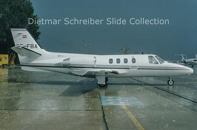 1994-09 OE-FBA Cessna 501 Citation 1 (c/n 501-0206) Air Salzburg