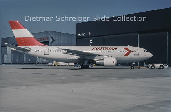 1994-09 OE-LAD Airbus A310-325ET (c/n 624) Austrian Airlines
