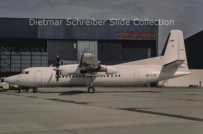 1994-09 OE-LFX Fokker F50 (c/n 20112) Tyrolean Airways