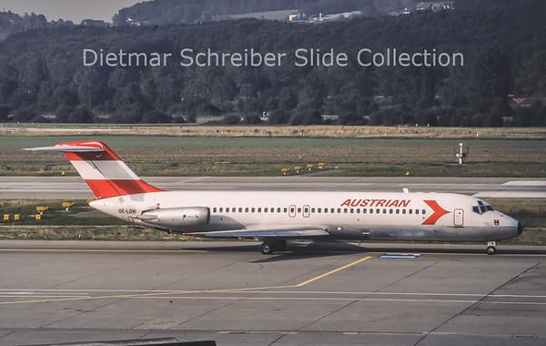 1987-09 OE-LDH Douglas DC9-32 Austrian Airlines