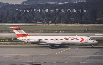 1987-09 OE-LDH Douglas DC9-32 (c/n 47555) Austrian Airlines