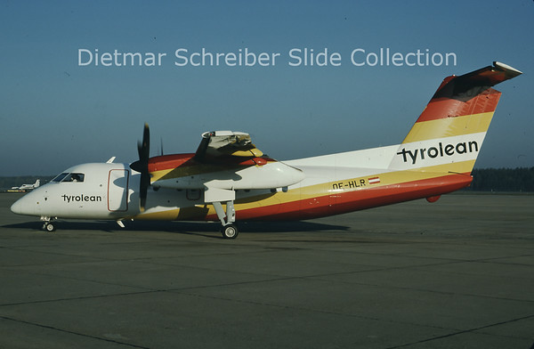 1985-10 OE-HLR Dash DHC8-100 Tyrolean Airways