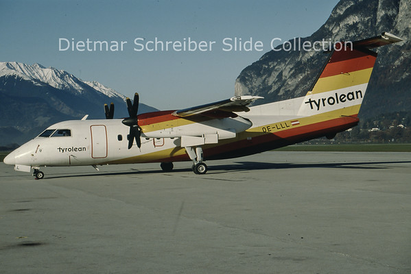 1992-11-07 OE-LLL Dash DHC8-100 Tyrolean Airways