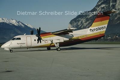 1992-11-07 OE-LLL Bombardier Dash 8-103A (c/n 253) Tyrolean Airways