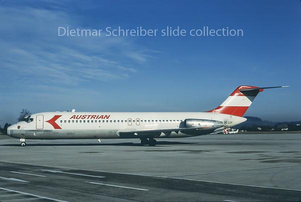 1985-01 OE-LDF Douglas DC9 Austrian Airlines