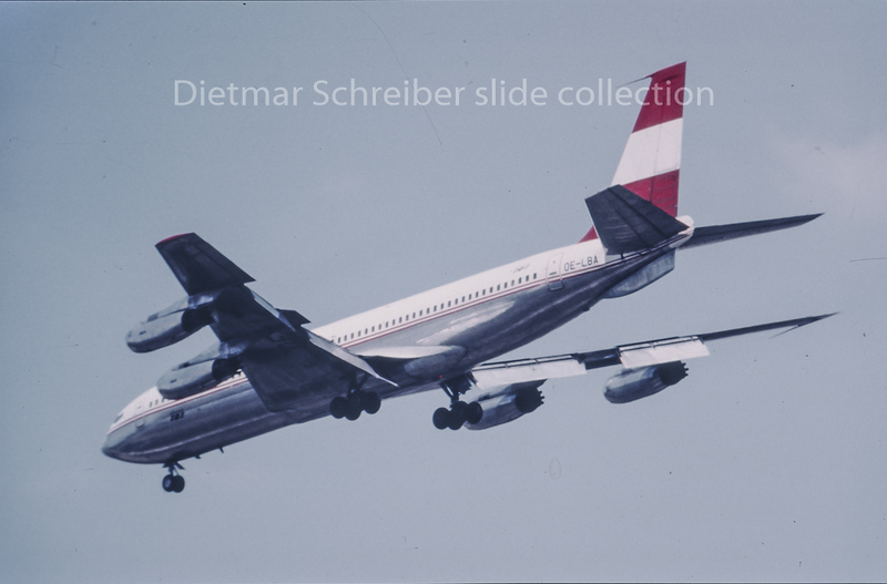 OE-LBA Boeing 707 Austrian Airlines