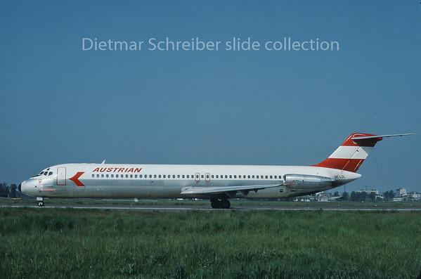OE-LDL Douglas DC9 Austrian Airlines