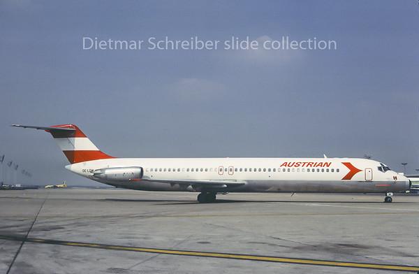 1982-04-22 OE-LDM Douglas DC9 Austrian Airlines
