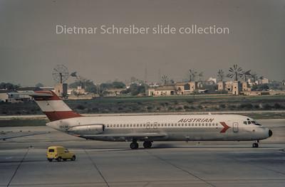 OE-LDH Douglas DC9 Austrian Airlines