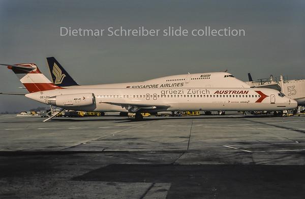1995-03 OE-LDV MDD MD80 Austrian Airlines