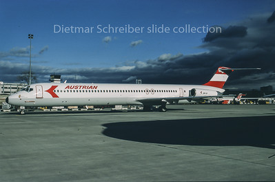 1995-01 OE-LDV MDD MD80 Austrian Airlines