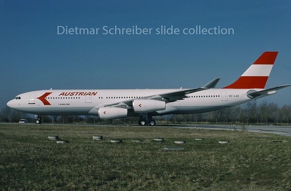 1995-03 OE-LAH Airbus A340-200 Austrian Airlines