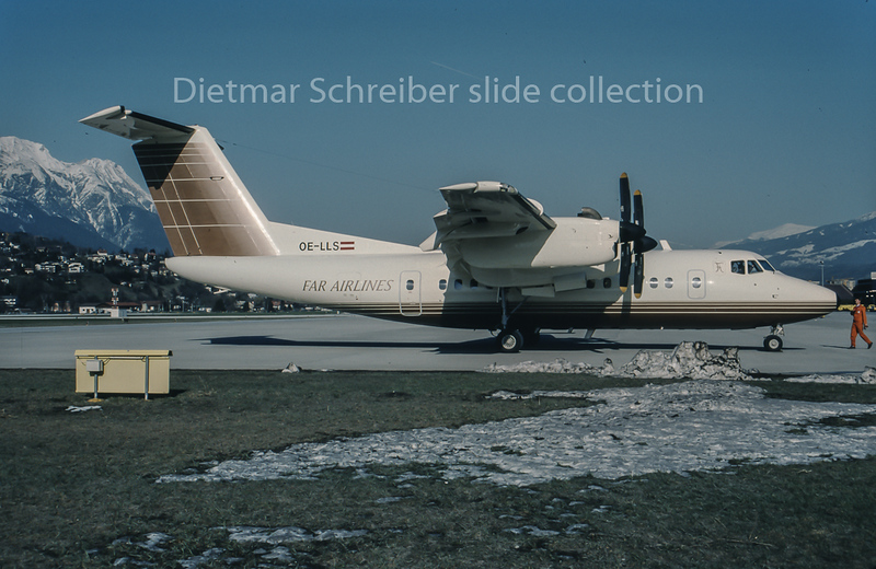 1995-04-03 OE-LLS Dash DHC7 Far Airlines