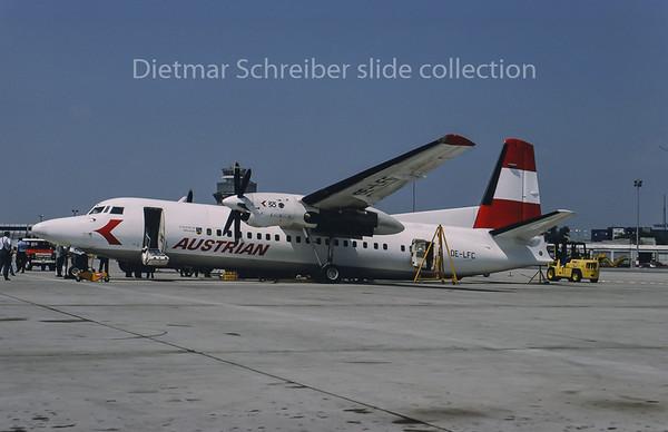 1993-05 OE-LFC Fokker 50 Austrian Air Service; Austrian Airlines