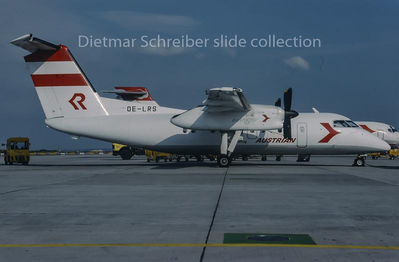 1994-05 OE-LRS Dash DHC8-100 Rheintalflug; Austrian Air Service; Austrian Airlines