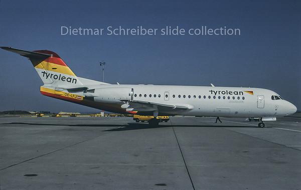 1998-07 OE-LFJ Fokker 70 Tyrolean Airways