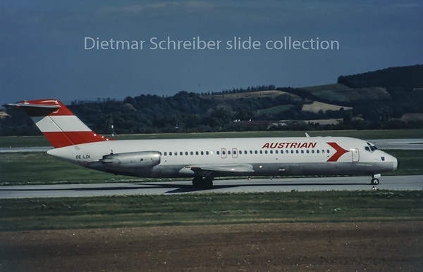 OE-LDI Douglas DC9 Austrian Airlines