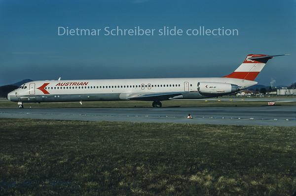 1988-02 OE-LMC MDD MD80 Austrian Airlines
