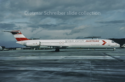 1995-01 OE-LDV MDD MD80 Austrian Airlines