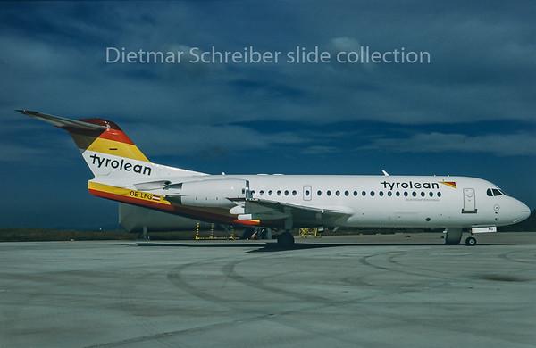 OE-LFG Fokker 70 Tyrolean Airways