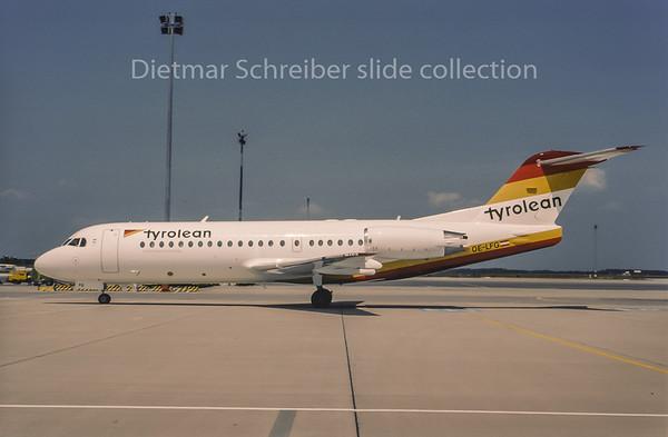 1995-07 OE-LFG Fokker 70 Tyrolean Airways