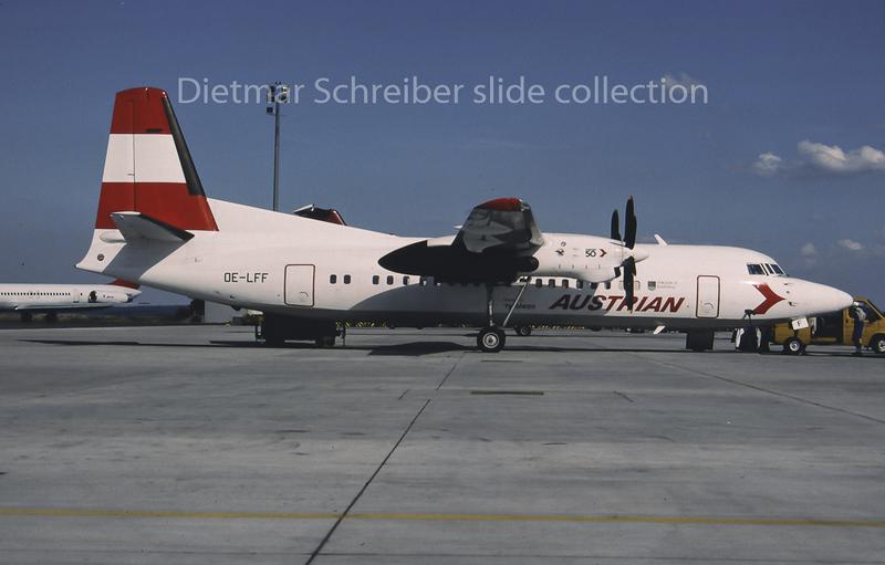1995-07 OE-LFF Fokker 50 Tyrolean Airways, Austrian Airlines