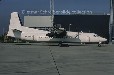 1995-10 OE-LFB Fokker 50 Tyrolean Airways
