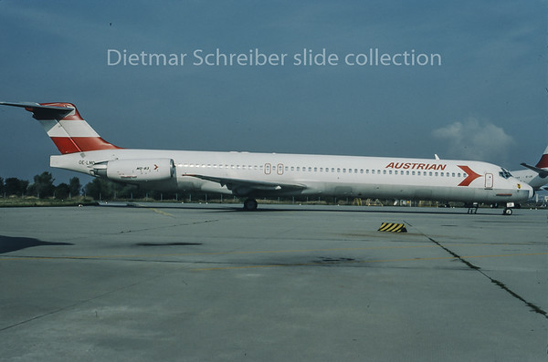 1995-09 OE-LMD MDD MD80 Austrian Airlines