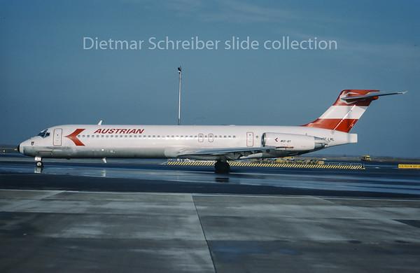 1996-01 OE-LML MDD MD87 Austrian Airlines