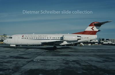 1996-01 OE-LFO Fokker 70 Austrian Airlines